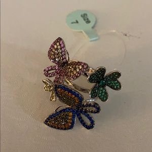 NWT Sterling Silver Butterfly Ring
